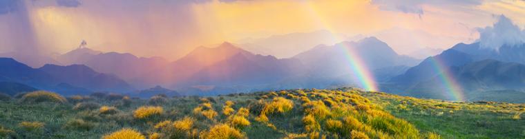 虹の降る谷