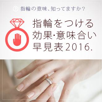 指輪をつける効果