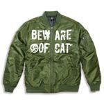 BEWARE OF CAT (オリーブドラブ)