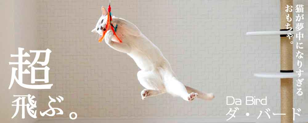 猫ちゃんが夢中になりすぎるおもちゃ:ダ・バード