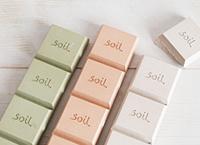 「珪藻土」で作られたプロダクト調湿性に優れた「soil」シリーズ