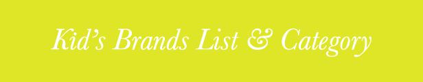 kids brandlist & category