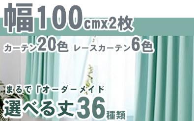 カーテン幅 W100cm