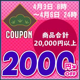 20000円以上で2000円