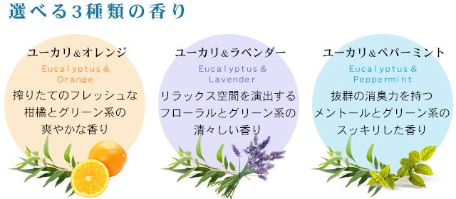 選べる3種の香り