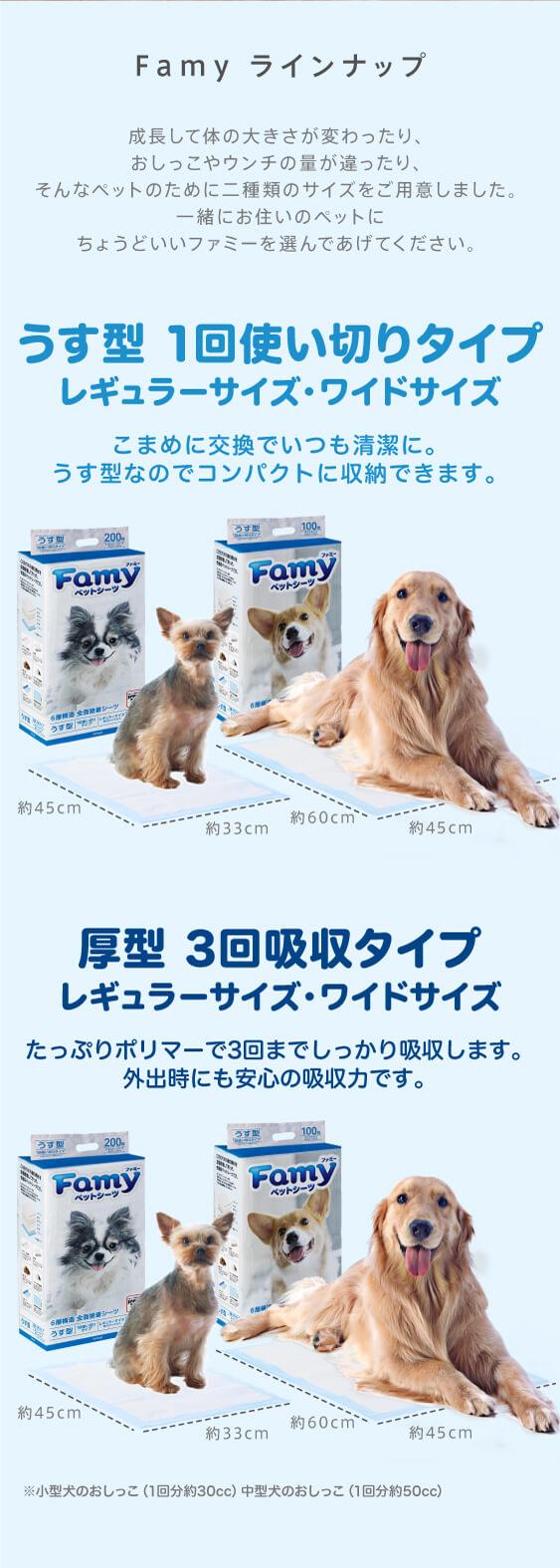Famy ファミー うす型 一回使い切りタイプ レギュラー・ワイド