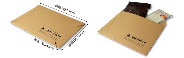 ゆうパケット梱包方法イメージ