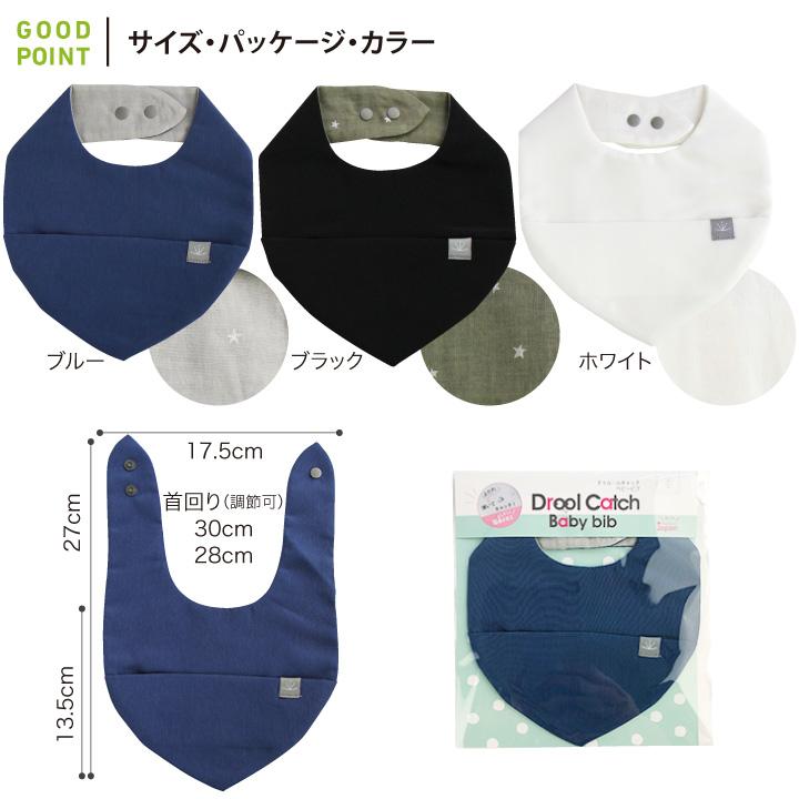 COPIII LUMII(コピールミ) ドゥルールキャッチベビービブサイズ・パッケージ・カラー