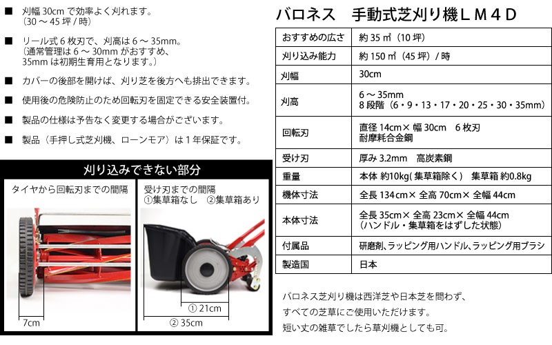刈幅30cm 製造国日本(国産)