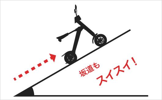 軽さを活かした登坂能力!