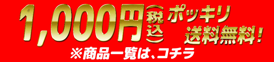 1000円ポッキリ商品一覧