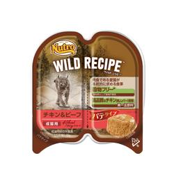 ワイルド レシピ™ 成猫用 チキン&ビーフ パテタイプ トレイ