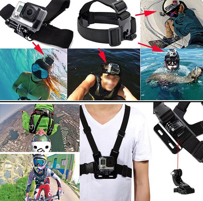 アクションカメラ アクセサリーセット スポーツカメラ HERO4 HERO3+ HERO3 HERO2 SJ4000 SJ5000に対応 GoPro SJCAM ◇GP-PARTS49