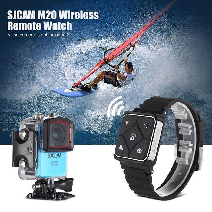 SJCAM 2.4Gワイヤレスウォッチ M20専用 遠隔ワイヤレスリモコン 時計 リモコン ウォッチ ブラック RFリモートコントローラー スポーツ ◇M20-WT