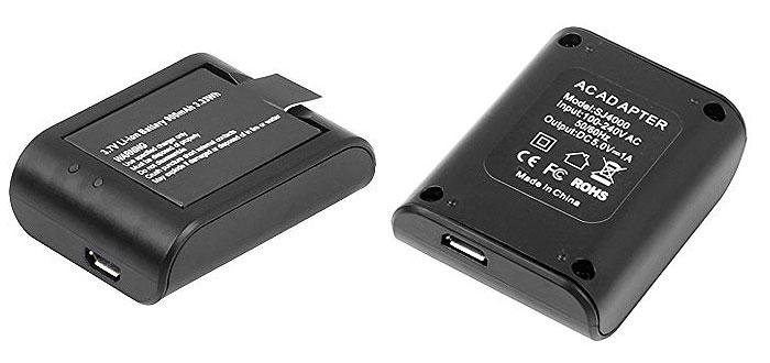 SJCAM SJ4000/SJ5000/M10用 バッテリーチャージャー バッテリー充電 バッテリーパック 充電器 ◇SJ-CHARGER