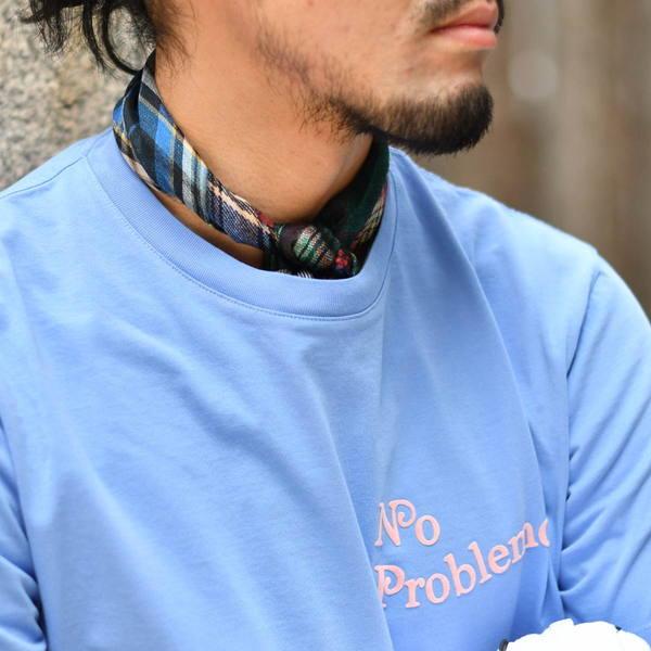 Pierre Louis Mascia【ピエールルイマシア】スカーフ ALOEUW67 47393 シルク ネイビー/グリーン