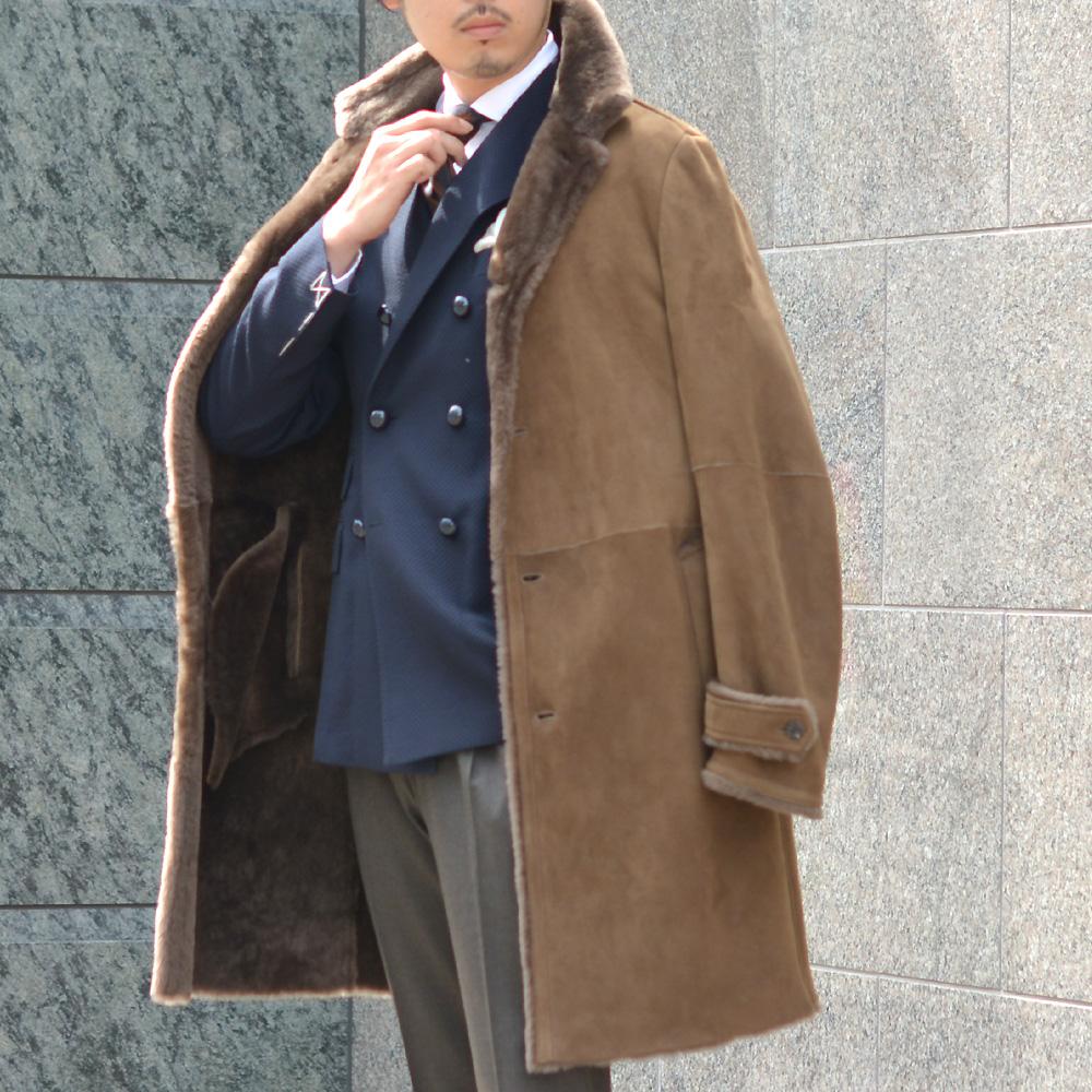 EMMETI【エンメティ】ムートンバルカラーコート NAT COHIBA ムートン ブラウン