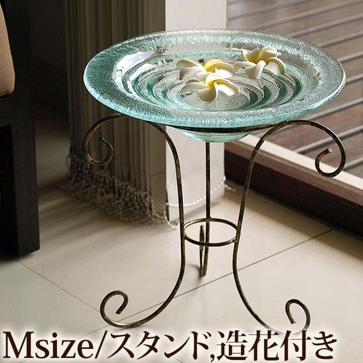 ガラスの水盤(M)セット