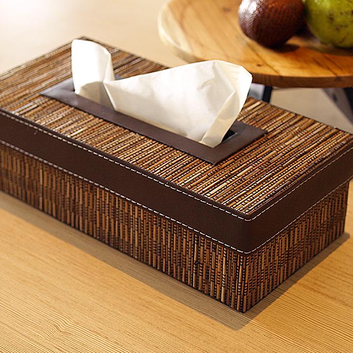 ティッシュボックス(椰子)