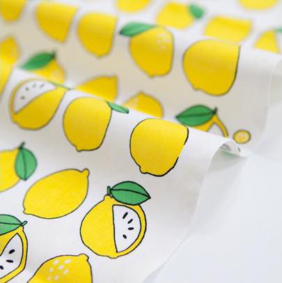 コットン生地 フルーツ(レモン)