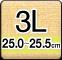 3Lサイズ(25.0-25.5cm)