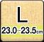 Lサイズ(23.0-23.5cm)