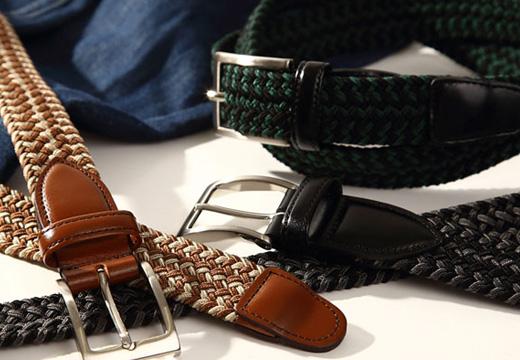 ベルト メンズ 本革 ゴムベルト 日本製 のびる 編みゴム らくらくゴムメッシュベルト