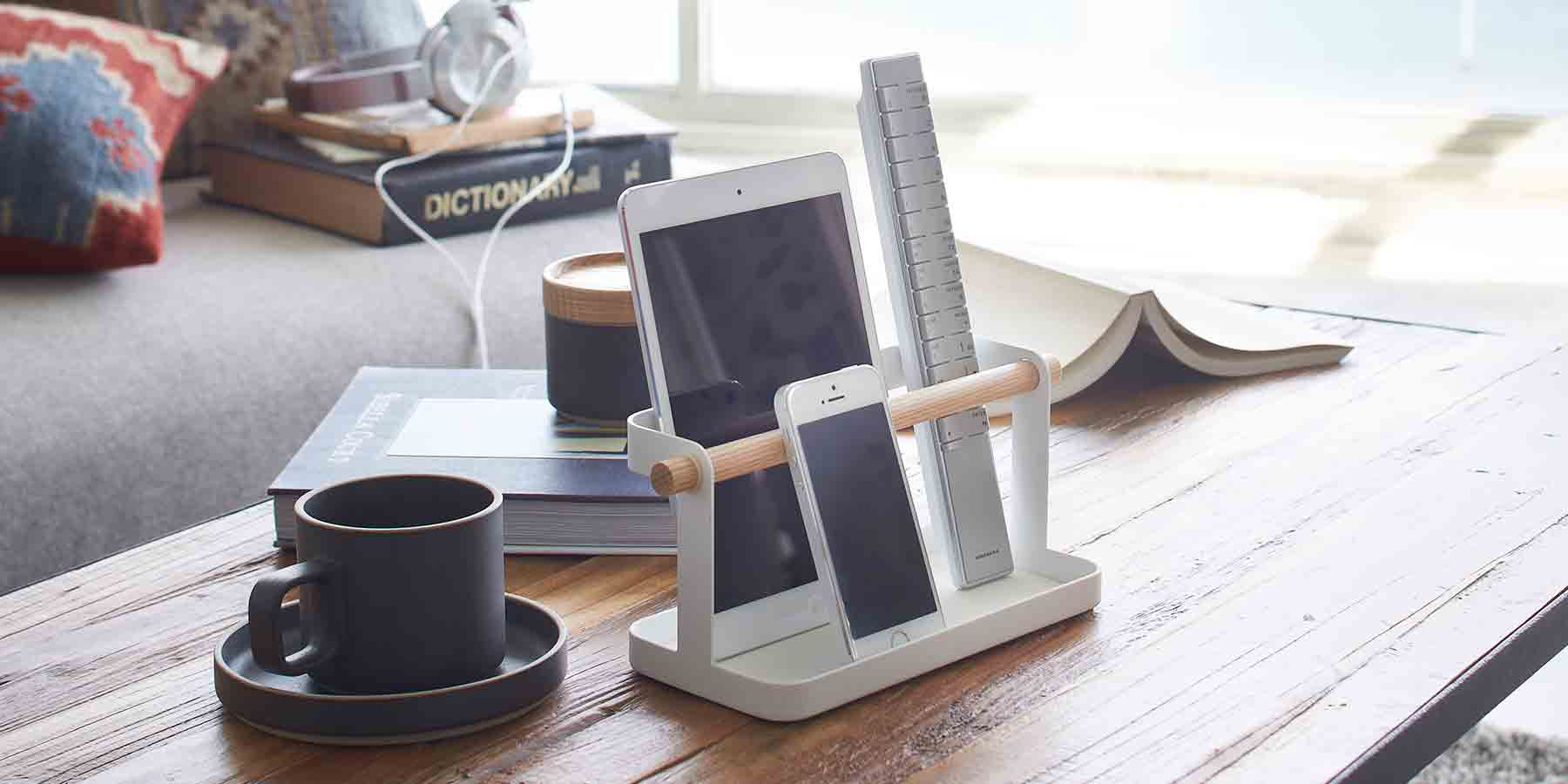 iPadスタンド iPad mini タブレット スタンド リモコン 収納 リモコンホルダー タブレット&リモコンラック トスカ tosca