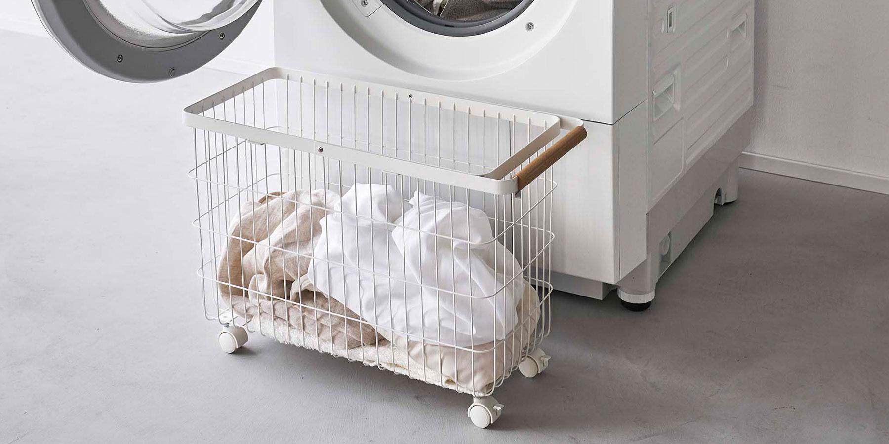 洗濯カゴ 洗濯かご 洗濯物入れ おしゃれ 収納 ワイヤーバスケット ランドリーバスケット トスカ