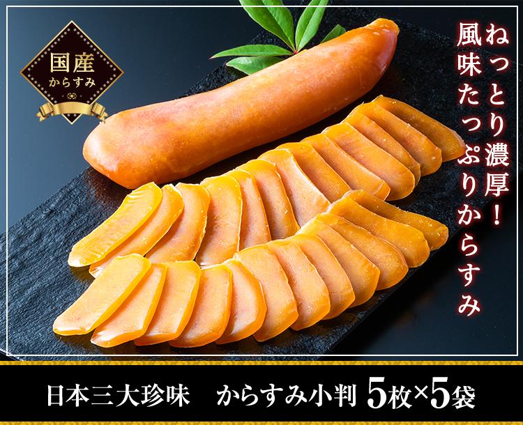 日本三大珍味 からすみ小判 5枚×5袋
