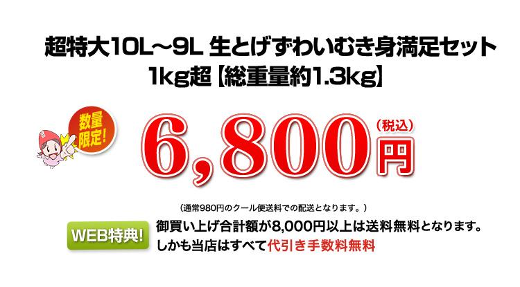 1kg超、数量限定8,800円(税込)
