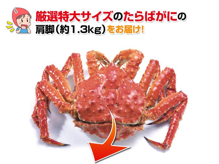 厳選特大サイズのたらば蟹をお届け!