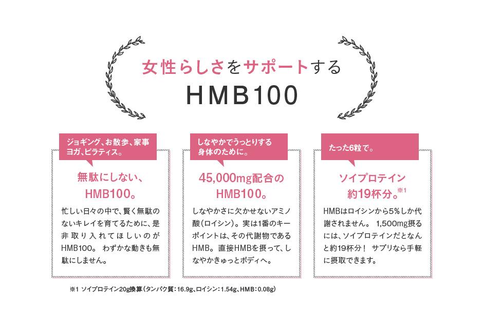 女性らしさをサポートするHMB100