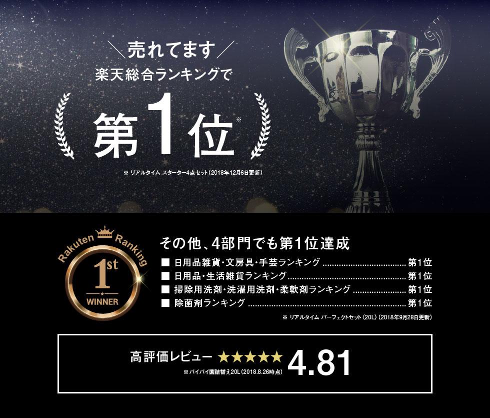 楽天ランキング堂々第一位 高評価4.81