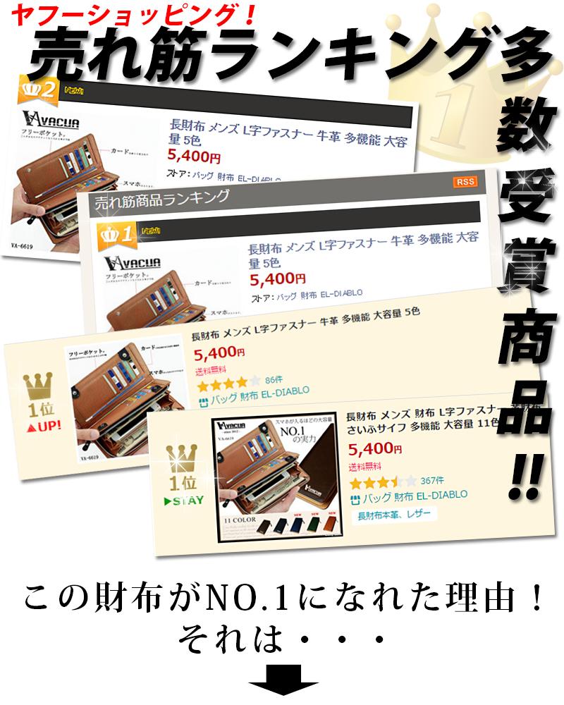 財布ランキング多数受賞