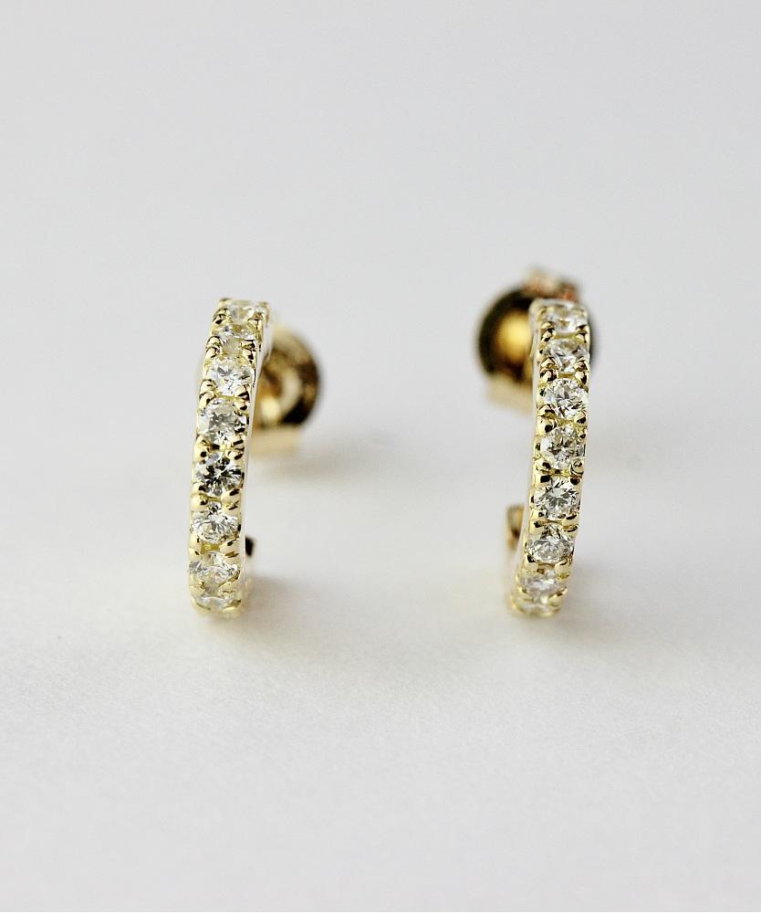 ピナコテーカ 716 ダズル ダイヤモンド フープピアス 18金