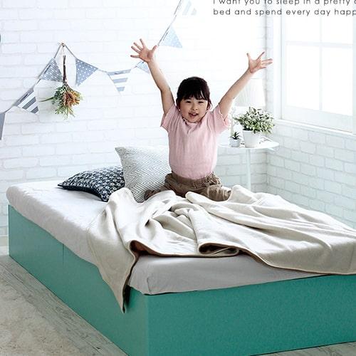 収納付きベッド パピーベッドフレーム シングル S だっぷり収納 コンパクト ほこりガード床板