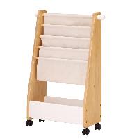 キャスター付きで、子ども服やおもちゃを収納したまま自由に移動させることができます。ハンガー(丸棒)部分は、上下に5段階の高さ調整ができます。送料無料 ハンガーラック ナチュラル シンプル 収納 洋服掛け 子供部屋