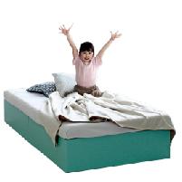 ヘッドレスベッド 収納付き シングル シングルベッド ベッドフレームのみ 収納ベッド コンパクト シンプルブルー ホワイト ピンク ベッド下収納スペース 大容量 送料無料 【フレームのみ】 収納付きベッド パピーベッドフレーム シングル S だっぷり収納 コンパクト ほこりガード床板 カラフル3色展開 組立簡単