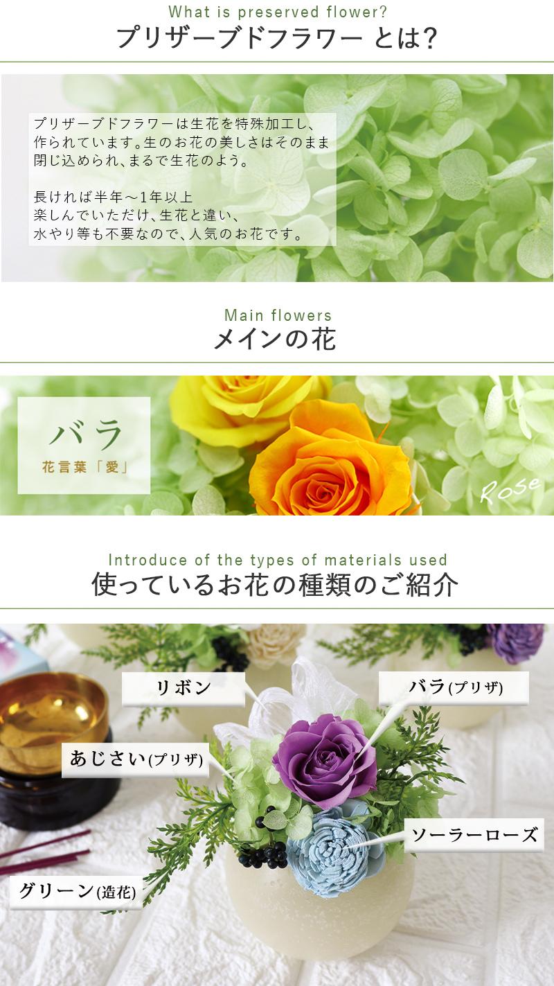 使用花材について