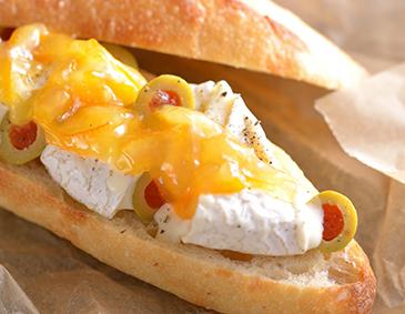 カマンベールチーズのフィセルサンドウィッチ