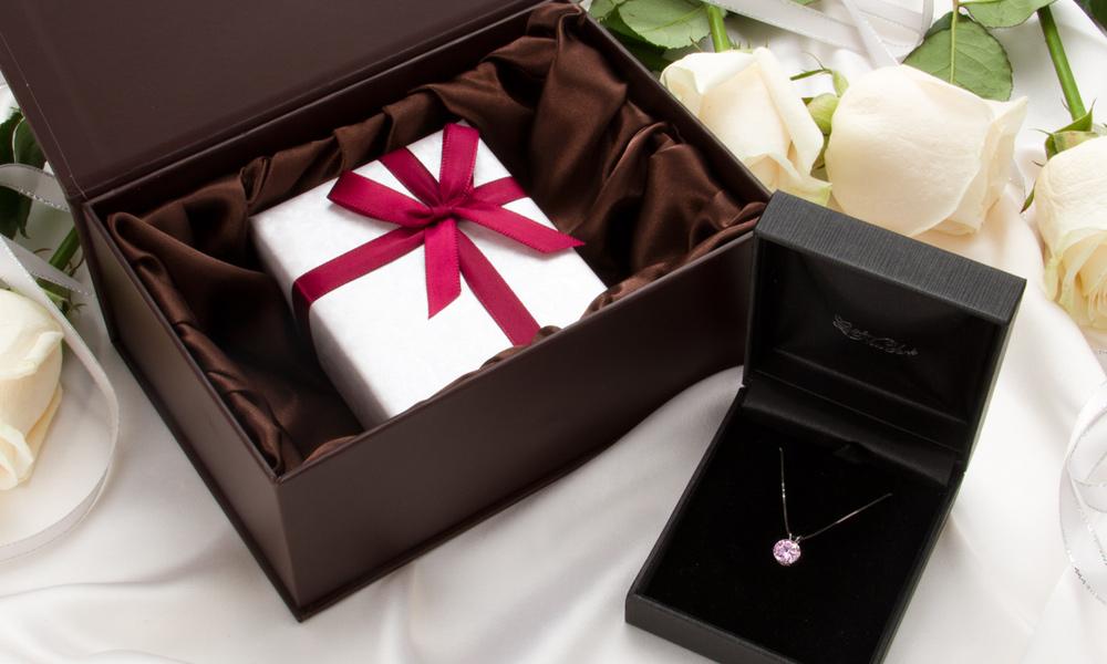 一粒ピンク ホワイトゴールド ネックレス ニューヨーク限定 日本未発売 ジュエリー