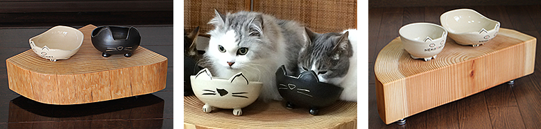 猫 器 ごはん台