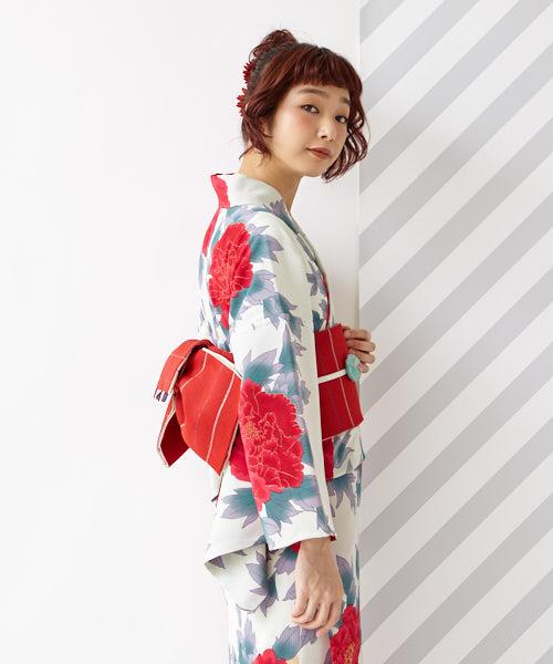浴衣「乙姫牡丹」