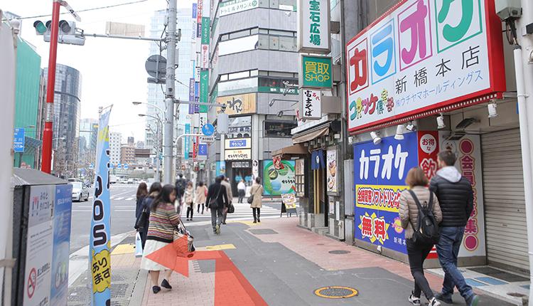 JR新橋から道順3