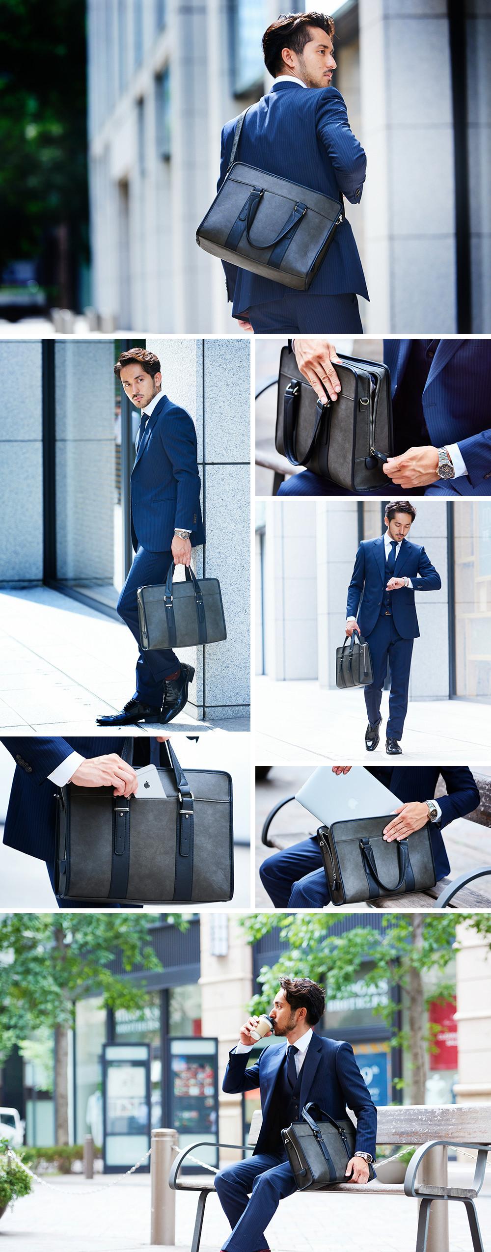 通勤にぴったりの定番ビジネスバッグ