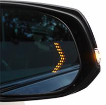 LEDシーケンシャルウィンカー内蔵ブルーミラー(左右セット)