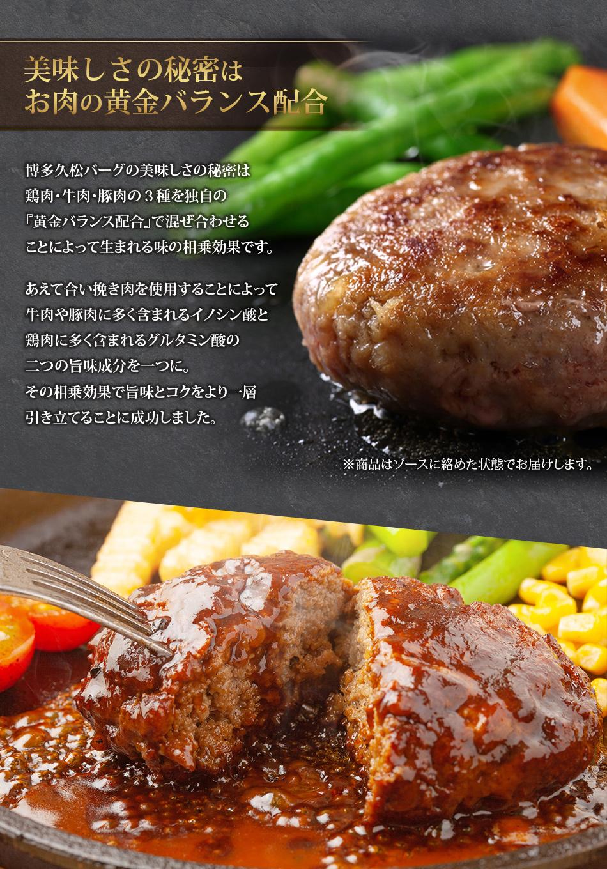 美味しさの秘密はお肉の黄金バランス配合