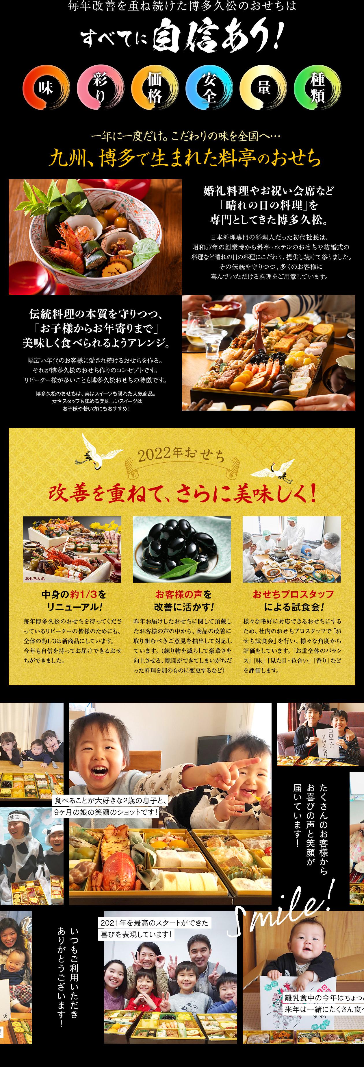 毎年改善を重ね続けた博多久松のおせちは全てに自信あり 九州 博多 料亭 おせち