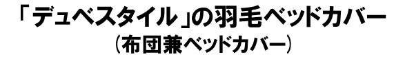デュベスタイルの羽毛カバー(布団兼カバー)